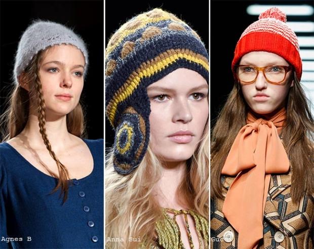 Модные женские шапки и береты осень-зима 2019-2016
