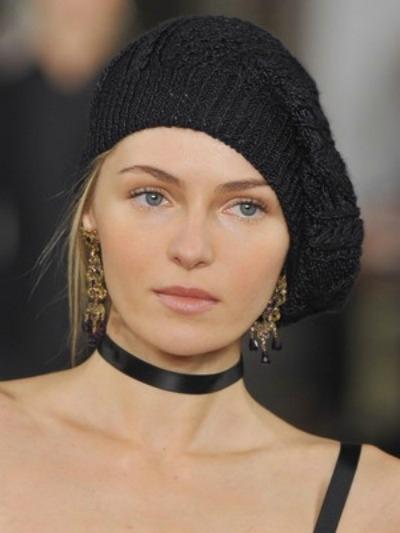 фото модных вязаных шапок 2015-2016