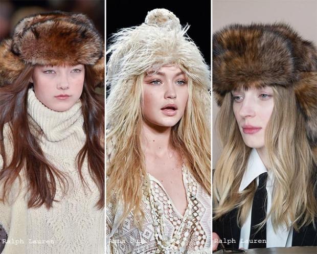 Модные меховые шапки 2019-2016