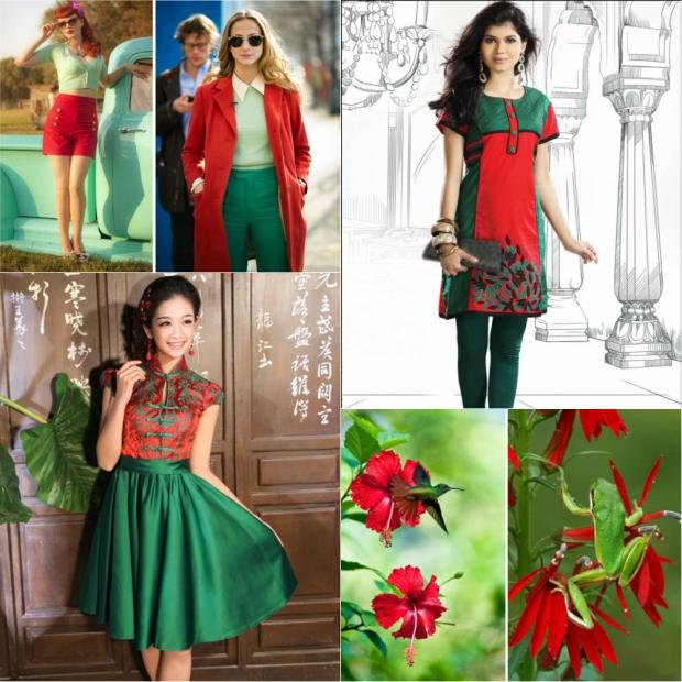 темно красный сочетание цветов в одежде