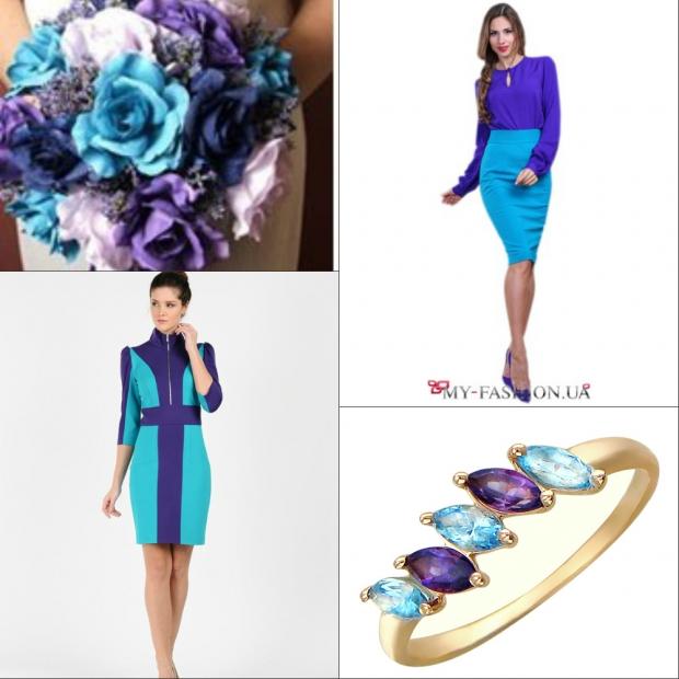 Цвет голубой в одежде