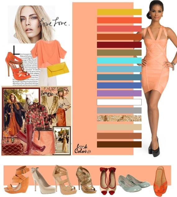 Персиковый цвет сочетание с другими цветами в интерьере фото комбинированные