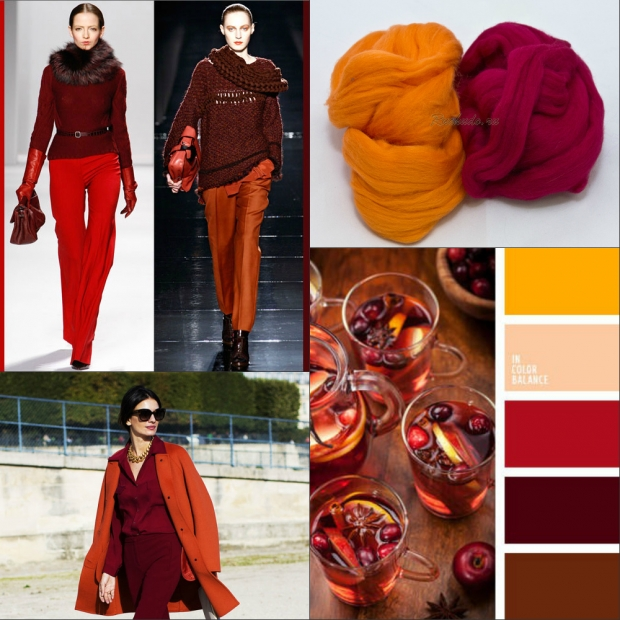 Бордовый цвет в одежде кому идет
