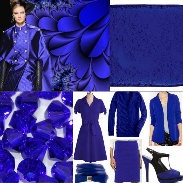 цвет одежды индиго фото