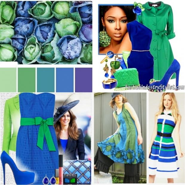 Сочетание зеленого цвета с другими