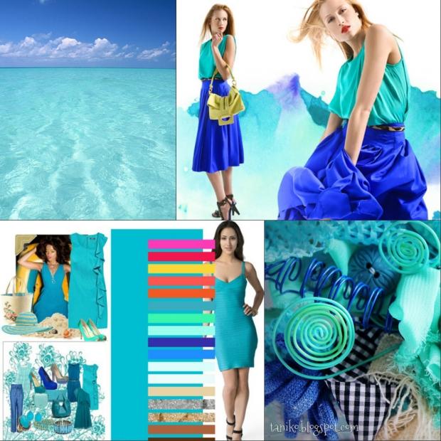 Бирюзовый и голубой цвет различие
