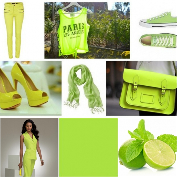 Одежда цвета лайм