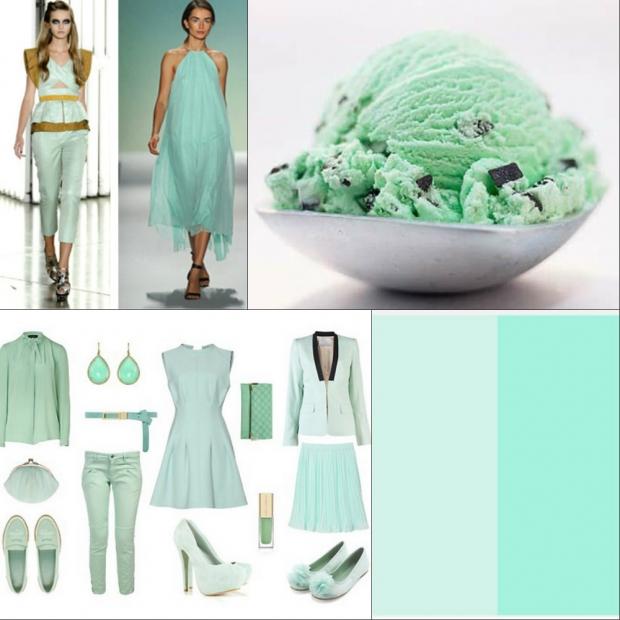 Цвет зелёный чай