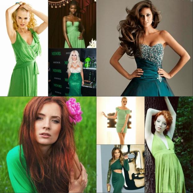 Кому подойдет изумрудный цвет платья