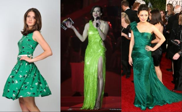 Девушки в зелёной одежде фото 177-236