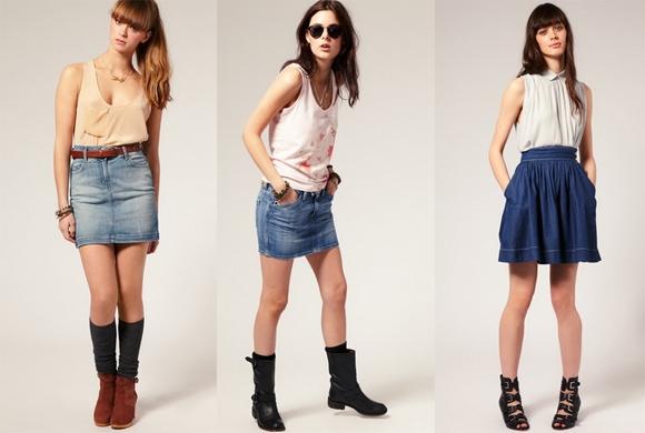 С чем носить короткие юбки осенью