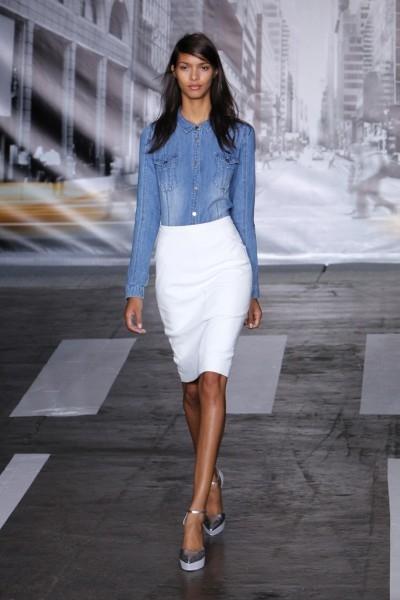 Можно ли носить белую юбку с колготками