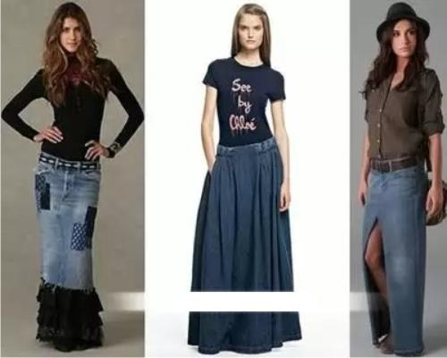 С чем носить длинные светлые юбки