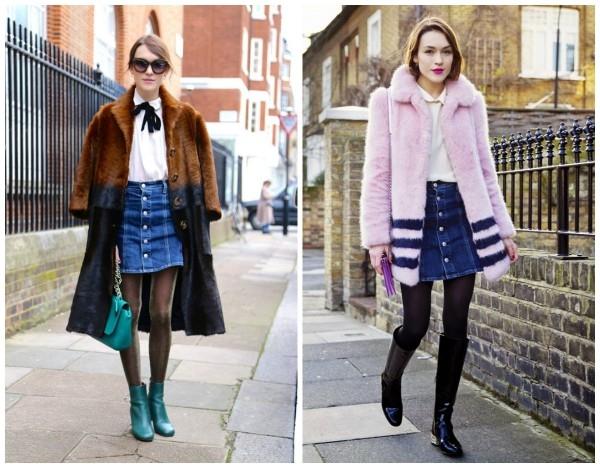 Джинсовые юбки женские с чем носить
