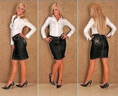 f2613ab7e82 С чем носить джинсовую юбку - фото