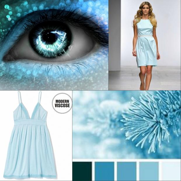 цвет голубой в одежде фото