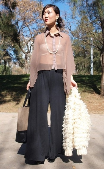 Блузка с юбкой гофре