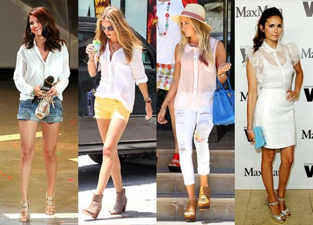 Что носить под прозрачной белую блузкой