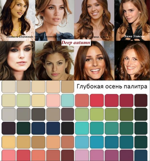 Цветотип осень примеры макияжа