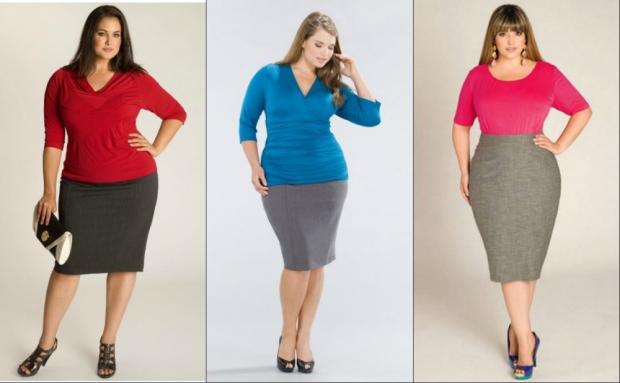 Какая длинна юбки подходит полным
