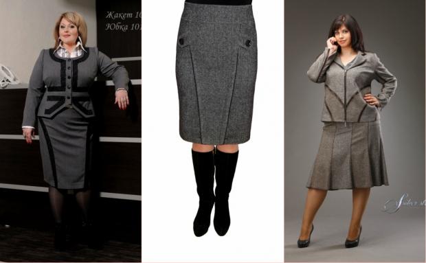 Фасон прямой юбки для полной женщины