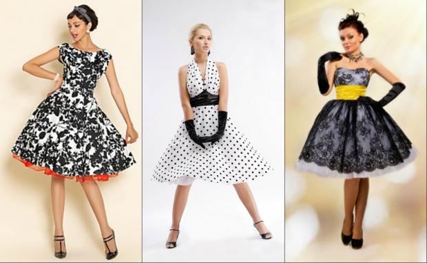 Ретро платья на полных фото