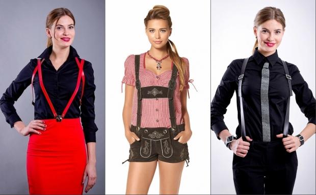 Как носить женские подтяжки и с чем можно их комбинировать?