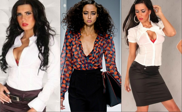 Фото идеи на тему «Современный деловой стиль одежды для женщин»