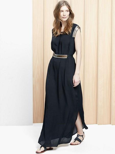 Длинные двухцветные платья