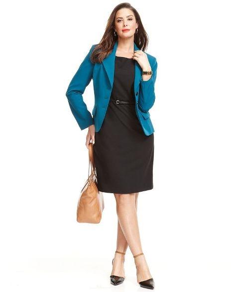 Офисный стиль одежды для полных