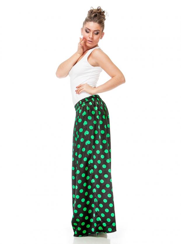 Длинная юбка в горошек фото