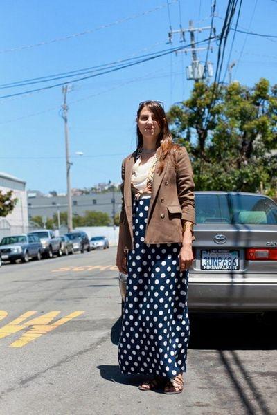 c77f1019d2d С чем носить юбку в горошек - фото