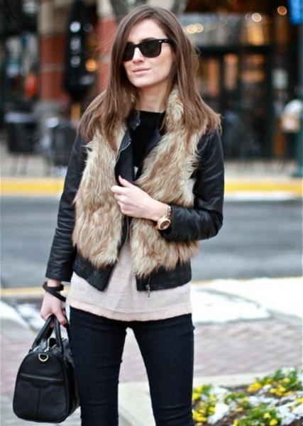 Кожаная куртка и жилет