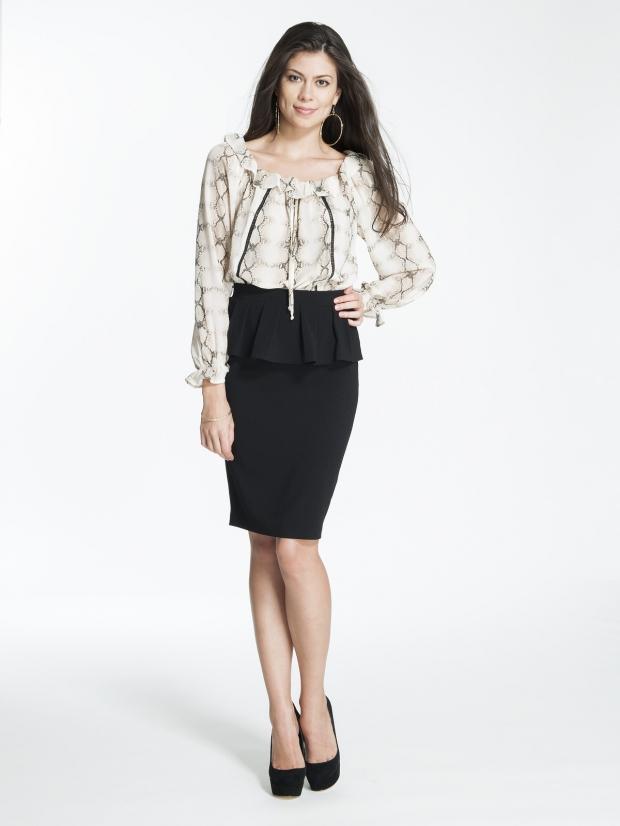 Классические черные юбки фото