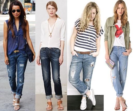 бойфренды джинсы для полных фото