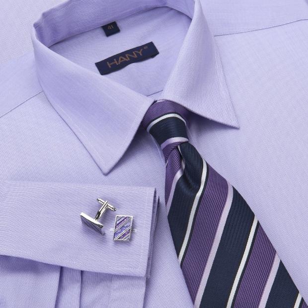 запонки с цветной рубашкой