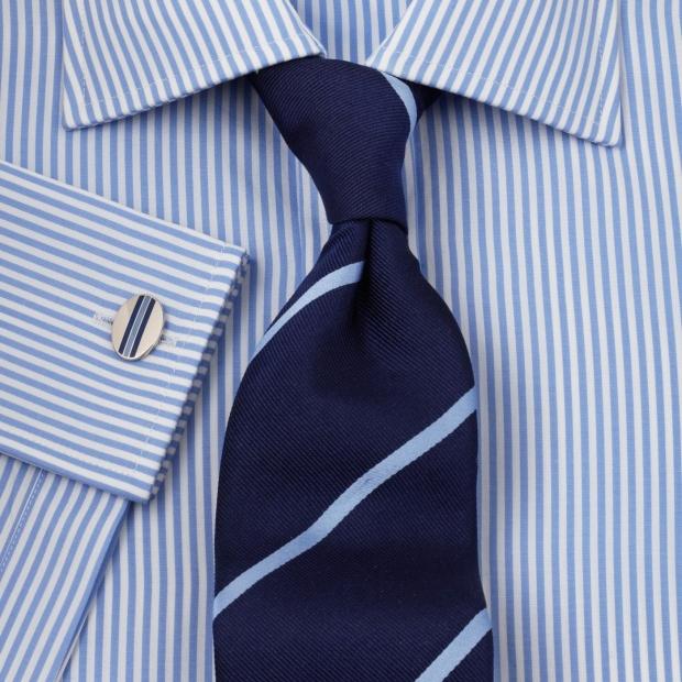 запонки с полосатой рубашкой