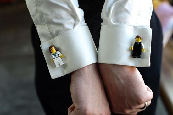 запонки жених и невеста лего