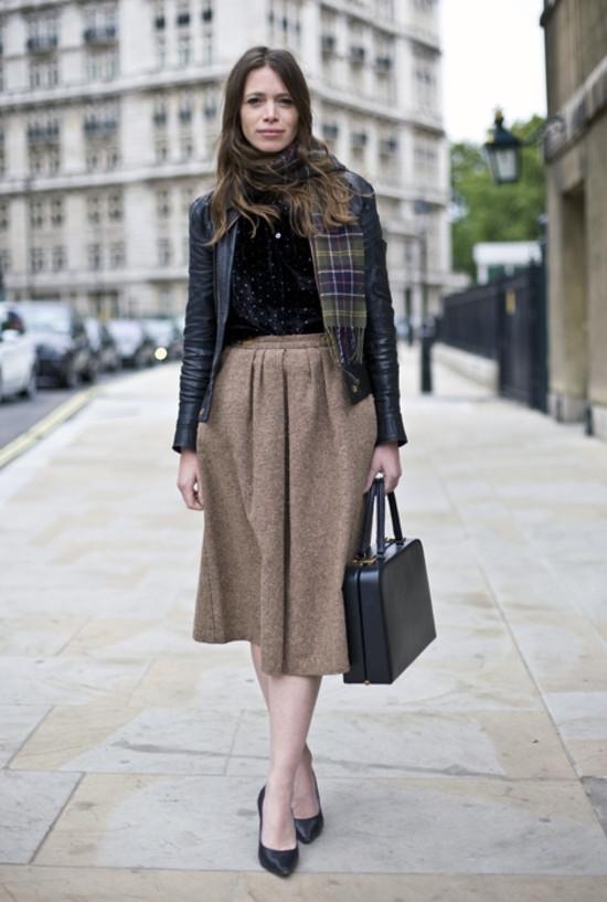 юбка-солнце в пол и куртка