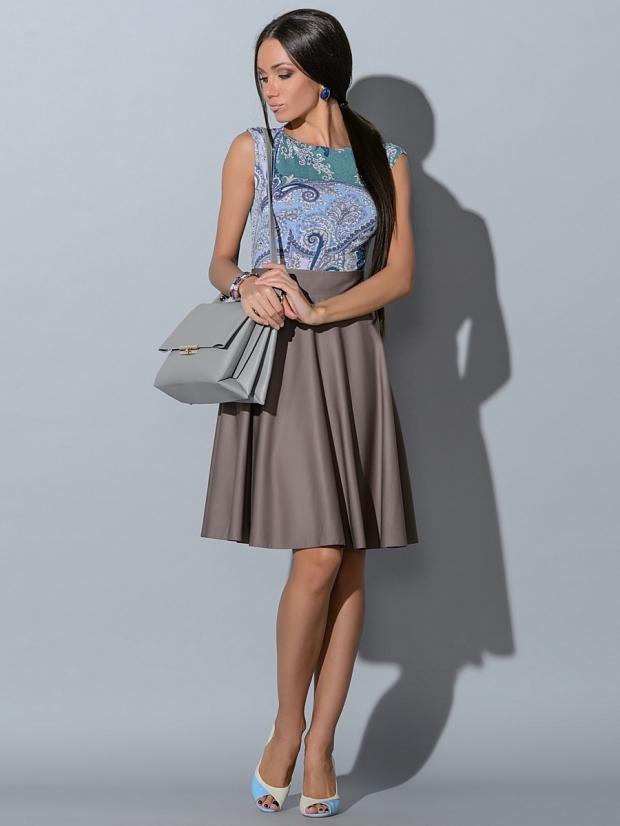 юбка-солнце миди