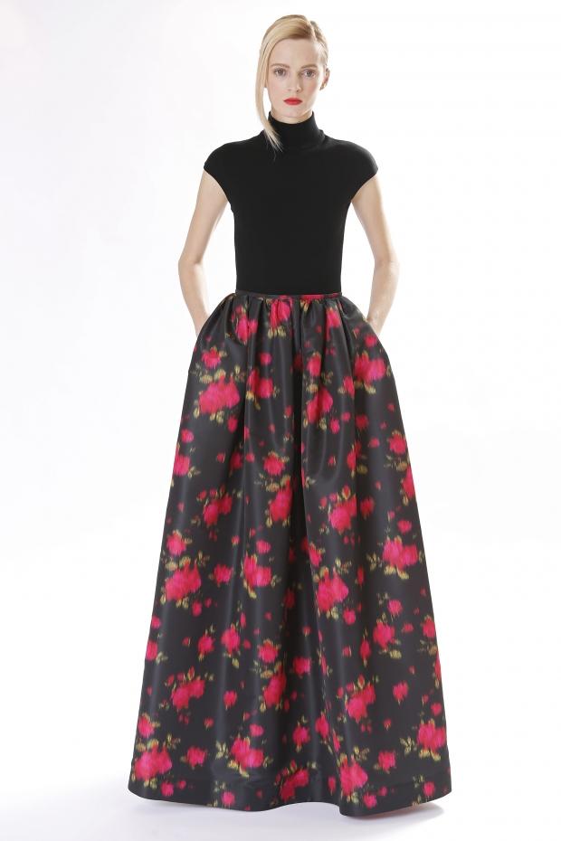 юбка в пол в цветок