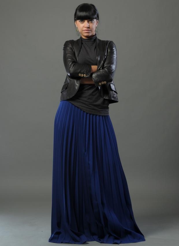 юбка в пол синяя