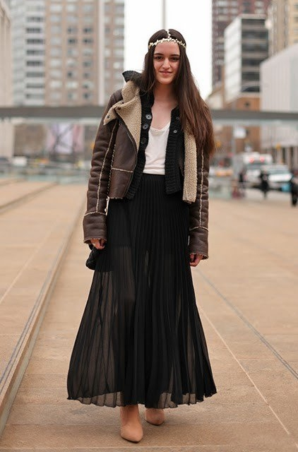 юбка в пол черная с жакетом