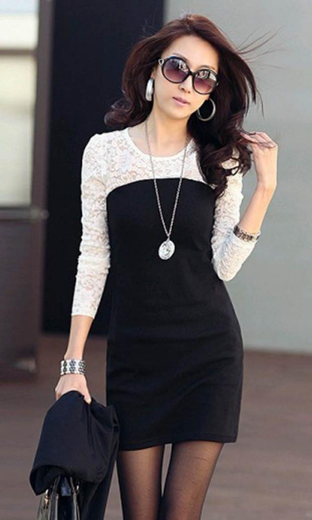Черное платья с цепочкой