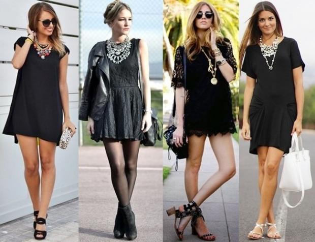 Украшения для чёрного платья