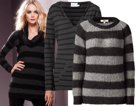 Полосатый свитер с чем носить