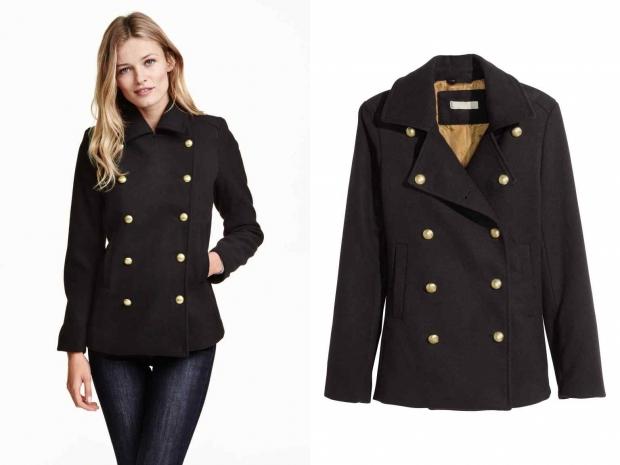 пальто в стиле милитри