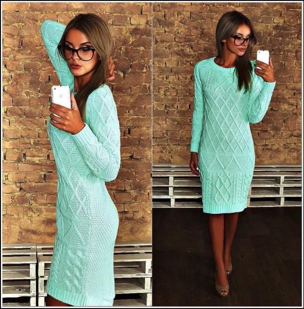 f0baf25ace8 Вязаное платье  с чем носить и как выбрать - фото