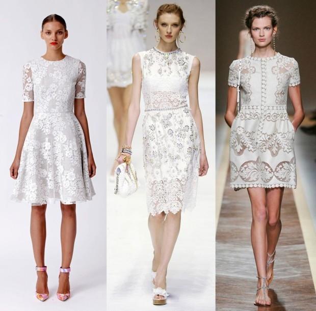 Кружевные платья на лето
