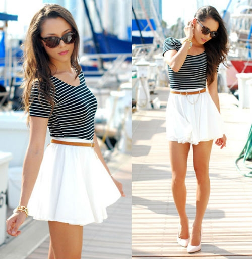 фото белые мини юбки
